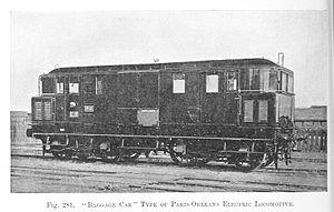 SNCF BB 1280 - Image: 281. Baggage car electric locomotive of Paris Orleans railway