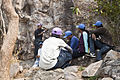 29RCCMAK - Trainer delivering lectures on rock climbing at Susunia Hill.jpg