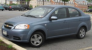 Chevrolet Sales India - The Daewoo Kalos is sold as the Chevrolet Aveo in India.