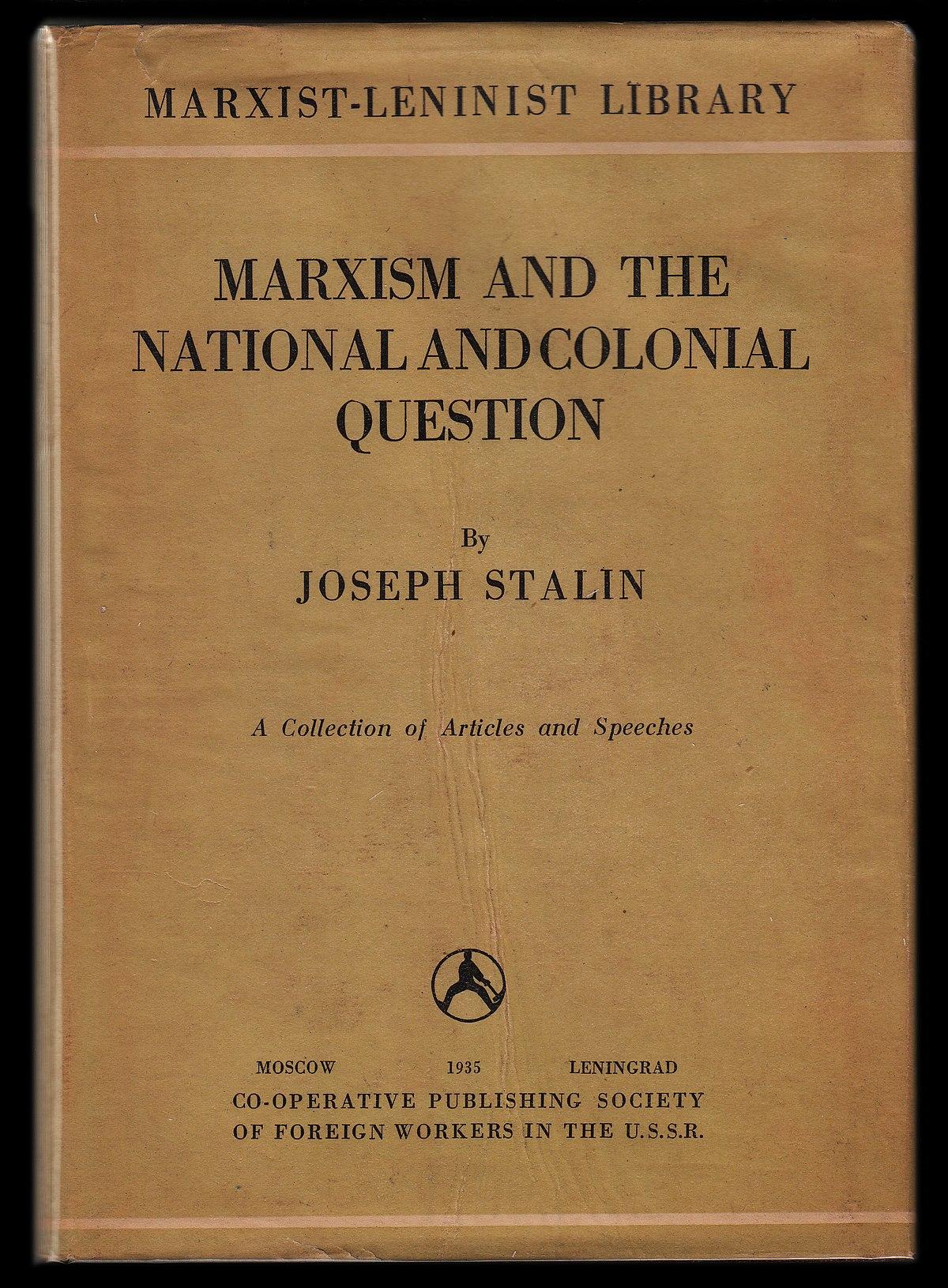 El marxismo y la cuestión nacional - Wikipedia, la