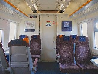 British Rail Class 375 - The interior of First Class cabin prior to refurbishment