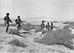 76th Punjabis - Image: 3rd Bn 1st Punjab Regt in the Libyan Desrt, 1942