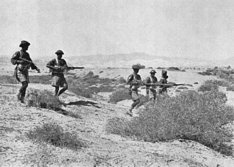 76th Punjabis - Image: 3rd Bn 1st Punjab Regt in the Libyan Desrt, 1942