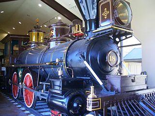 Virginia and Truckee 18 Dayton preserved American 4-4-0 locomotive