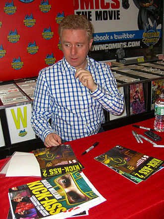 Kick-Ass (film) - Creator Mark Millar signing posters for the movie and copies of the comics sequel, Kick-Ass 2, during an appearance at Midtown Comics in Manhattan.