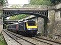 43??6 Paddington to Bristol Temple Meads passes Sidney Gardens Bath (14693997877).jpg