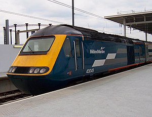 National Express - Midland Mainline High Speed Train at London St Pancras