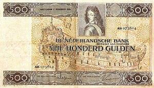 Carel Adolph Lion Cachet - Image: 500 Gulden 1930