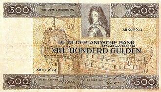 Johannes Voorhout - Image: 500 Gulden 1930