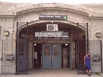 Pelham Parkway (IRT Dyre Avenue Line) - 2008 view of the station house entrance