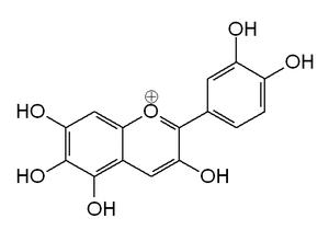 6-Hydroxycyanidin - Image: 6 Hydroxycyanidin