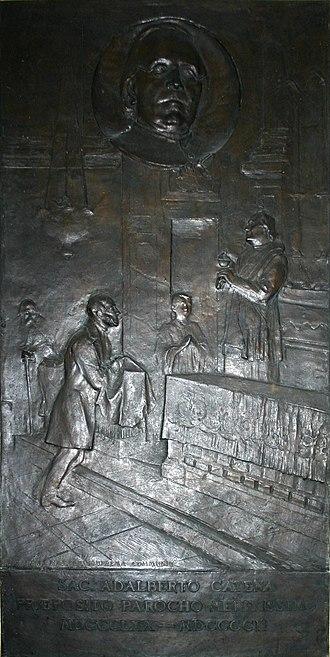 Luigi Secchi - Image: 6403 Milano San Fedele Luigi Secchi (1853 1921), L'ultima comunione del Manzoni (1903) Foto Giovanni Dall'Orto 14 Feb 2008