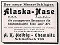 650 Jahre Kürschner-Zwangs-Innung zu Breslau Delegierten Tagung 1926 (S. 88, Anzeige Alaska-Nase).jpg
