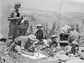 John Wilton (general) - Command post of the 12th Battery, 2/6th Field Regiment, during the Battle of Merdjayoun, June 1941