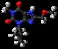 8-Methoxymethyl-3-isobutyl-1-methylxanthine molecule ball.png