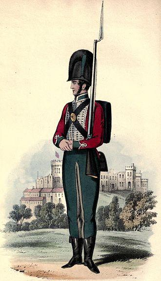 87th (Royal Irish Fusiliers) Regiment of Foot - Original uniform in 1793