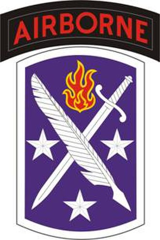 95th Civil Affairs Brigade - 95th Civil Affairs Brigade shoulder sleeve insignia