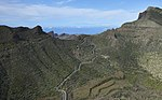 A0251 Tenerife, road in the mountains aerial view.jpg