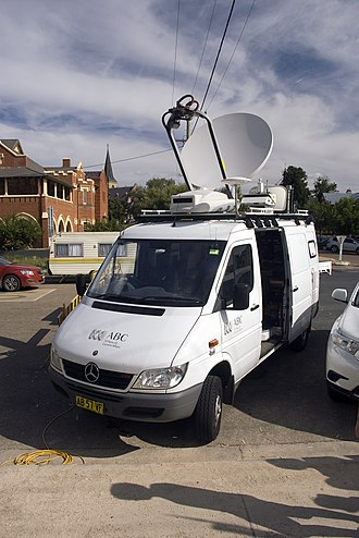 ABC News and Current Affairs - ABC News and Current Affairs outside broadcast van