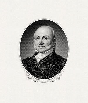 Inauguration of John Quincy Adams - Image: ADAMS, John Q President (BEP engraved portrait)