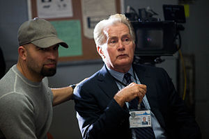 AGUSTIN Y MARTIN SHEEN on the set of BADGE OF HONOR.jpg