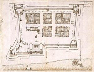 Fort Oranje (Ternate) - 17th century map of Fort Oranje.