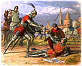 A Chronicle of England - Page 386 - Capture of the Maid at Compiegne.jpg