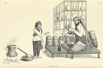 Kurti top - Image: A Punjabi woman in Kurti and suthan visiting the Attar, the pharmacist. 1852
