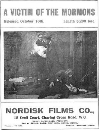 A Victim of the Mormons - Nordisk Film's marketing pamphlet for the film's release in England