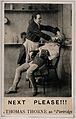 "A barber shaving a man. ""Ink-photo"". Wellcome V0019711.jpg"