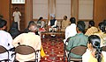 A delegation lead by Kumari Mamta Banerjee meeting with the Prime Minister, Dr. Manmohan Singh, in New Delhi on July 03, 2007.jpg