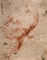 A man with goitre. Red chalk drawing by or after J. Ribera. Wellcome V0010542.jpg