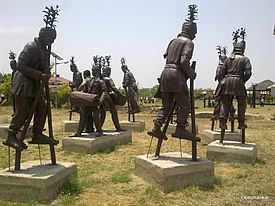 Statues exhibiting Chhattisgarhi 'Dangchagha' folk dance in Raipur Park