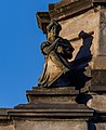 A statue by the main dome of Govanhill Library, Glasgow, Scotland 02.jpg
