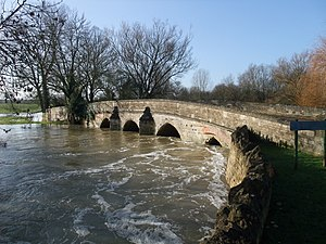 River Welland - The Welland in spate at Duddington, showing its capacity for flooding adjoining meadows