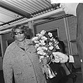 Aankomst Ella Fitzgerald op Schiphol, Ella Fitzgerald, Bestanddeelnr 917-6035.jpg