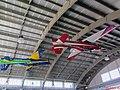 Academia da Força Aérea (AFA) em Pirassununga-SP. O lendário avião T-27 (Tucano) pintado com as cores que voou pelo céu do Brasil e do mundo, pendurado no teto do Esquadrão - panoramio.jpg