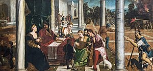 Bonifazio Veronese - The rich man and Lazarus 1540 Gallerie dell'Accademia Venice