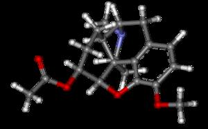 Acetyldihydrocodeine - Image: Acetyldihydrocodeine ball and stick