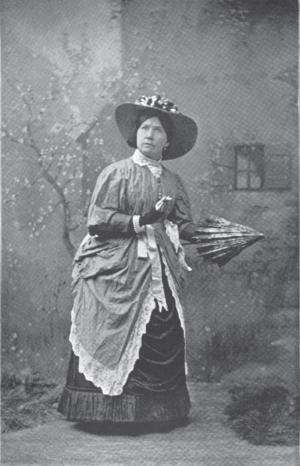 Annie Yeamans - Actress Annie Yeamans, c. 1896