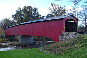 Adairs Covered Bridge - Adairs Covered Bridge, October 2010