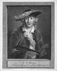 Adolf Friedrich Harper (1725 - 1806), German Landscape Painter at the Court of Würtemburg, by Christian Jakob Schlotterbeck (1757 - 1811).jpg