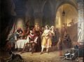 Adolphe Dillens. Spanish king and the gypsies (1852).jpg