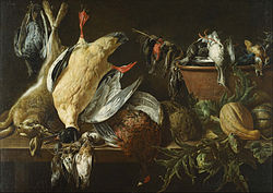 Adriaen van Utrecht - Still Life with Games and Vegetables - Google Art Project.jpg