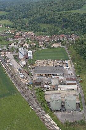 Aerial view of Croy