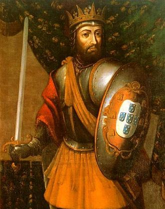 Afonso III of Portugal - Portrait of D. Afonso III as king of Portugal