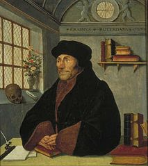 Portrait of Erasmus at his writing table