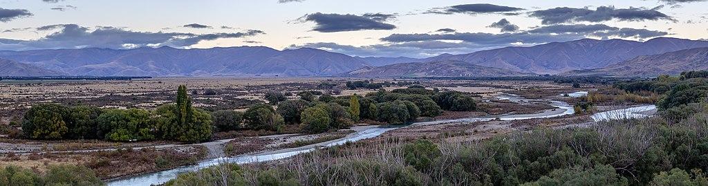 Ahuriri River before sunrise, Canterbury, New Zealand.jpg