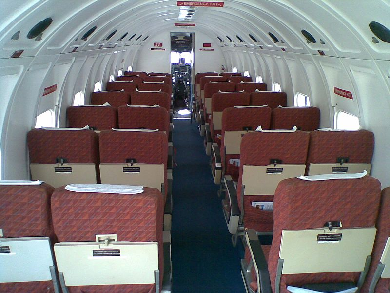 Interior de la cabina de un DC-3.
