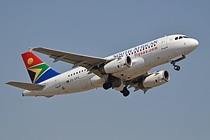 Airbus A319-131 'ZS-SFG' South African Airways (15554993244).jpg
